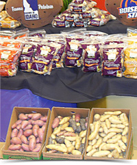 Fingerling potato booth - Caito seminar 2012